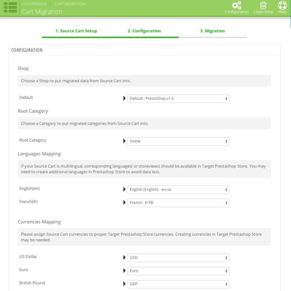 module - Data migration & Backup - LitExtension: 3dcart to Prestashop Migration - 1