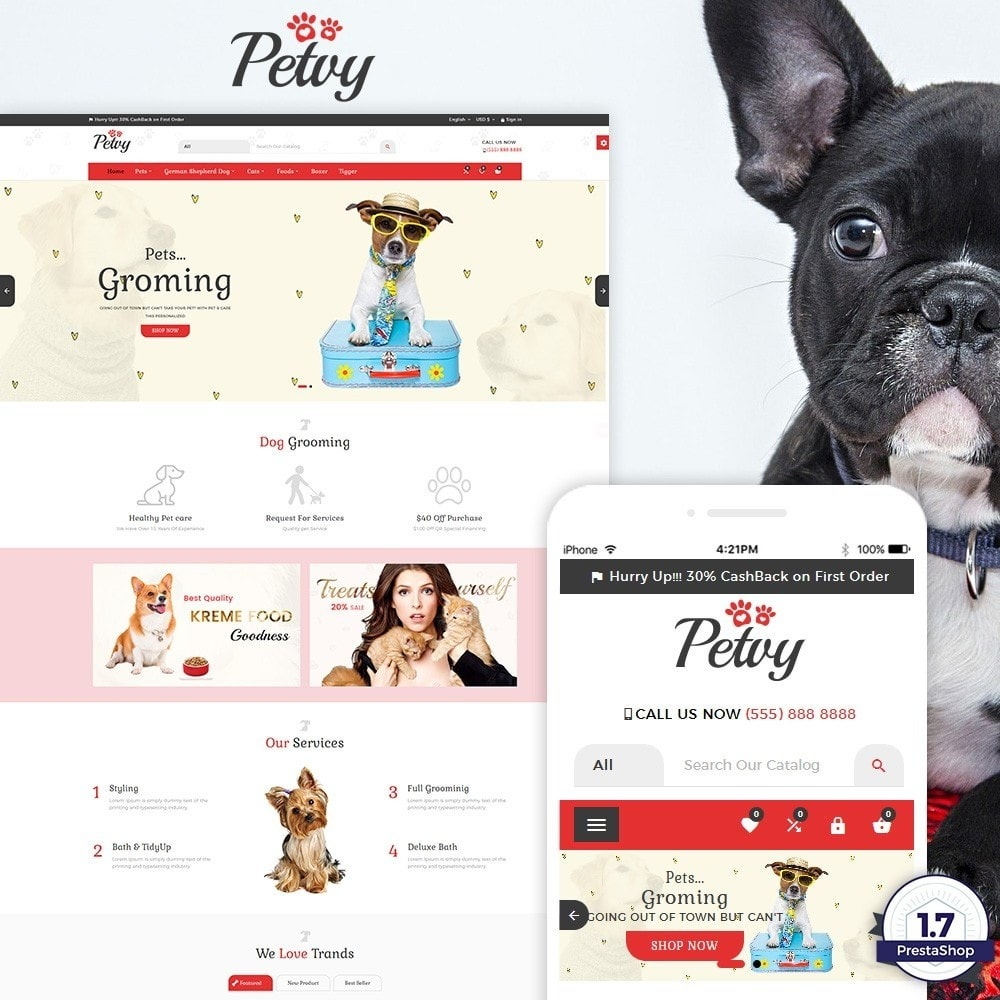 theme - Animales y Mascotas - Petoy – Pets and Animal Store - 1