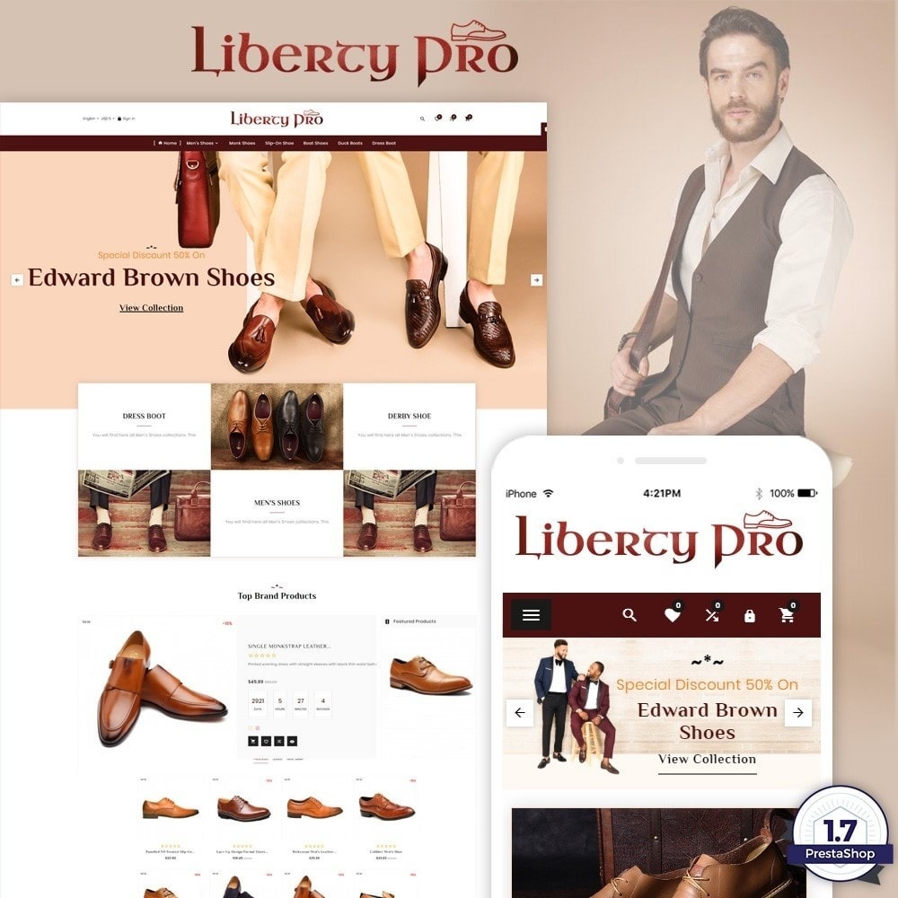 theme - Fashion & Shoes - Liberty – Formal Shoes Store - 1