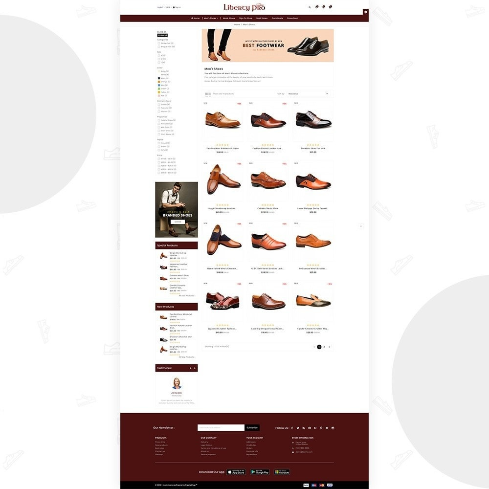 theme - Moda y Calzado - Liberty – Formal Shoes Store - 3