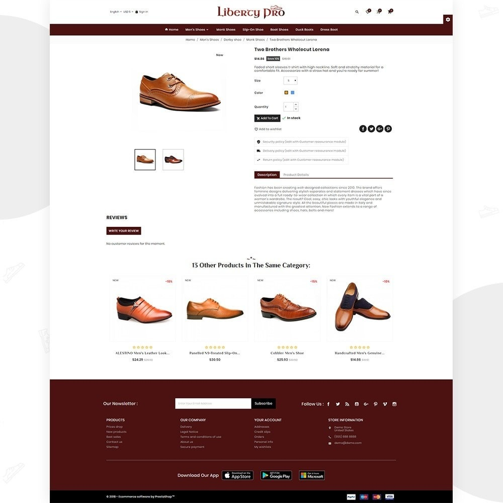 theme - Moda y Calzado - Liberty – Formal Shoes Store - 4