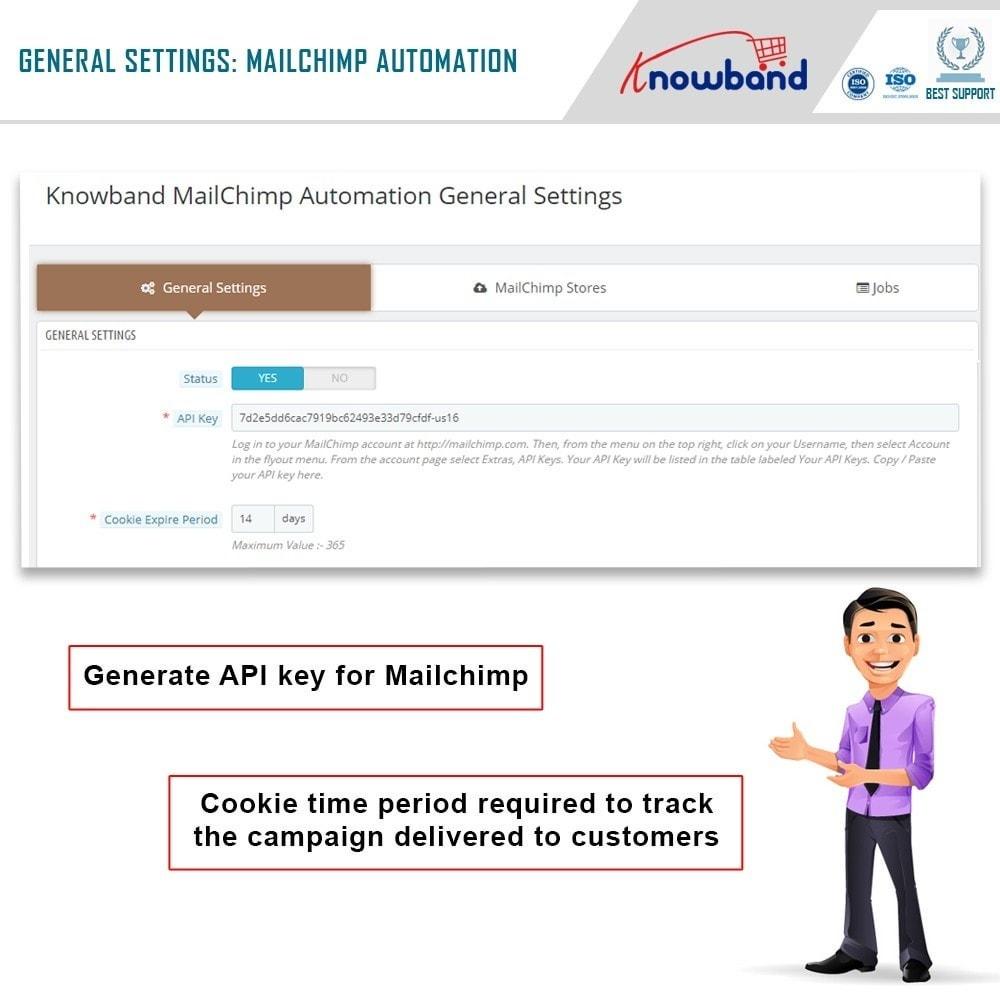 module - Newsletter & SMS - Knowband - Mailchimp Automation - 2