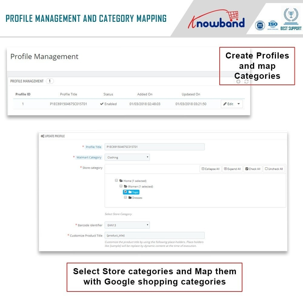 module - Data Integraties (CRM, ERP...) - Knowband - Prestashop Walmart Integration - 3