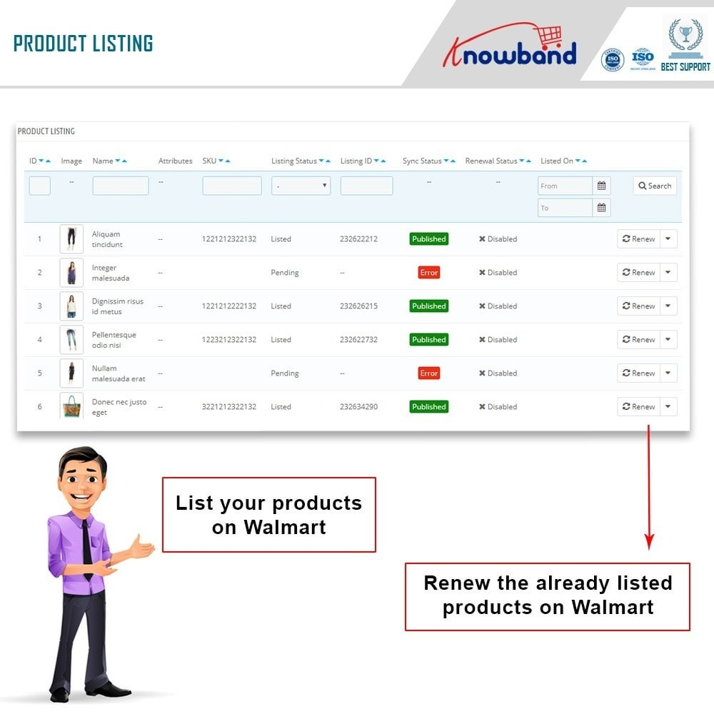 module - Data Integraties (CRM, ERP...) - Knowband - Prestashop Walmart Integration - 5