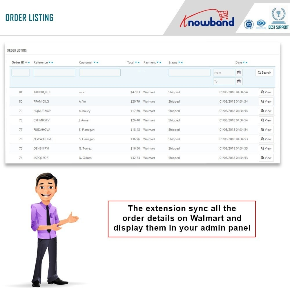module - Data Integraties (CRM, ERP...) - Knowband - Prestashop Walmart Integration - 8