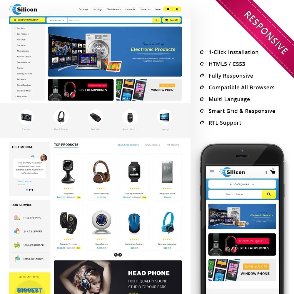 theme - Elettronica & High Tech - Silicon - The Electronic Store - 1