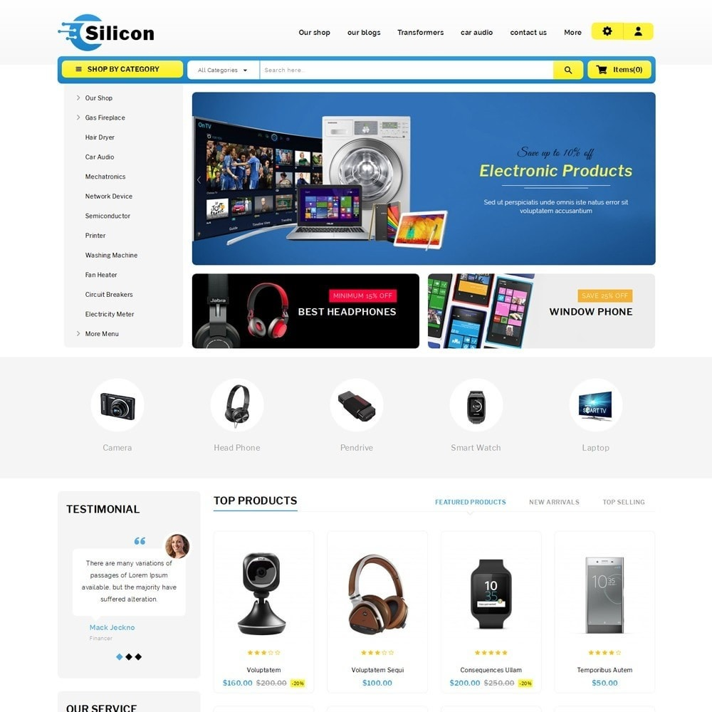 theme - Elettronica & High Tech - Silicon - The Electronic Store - 2