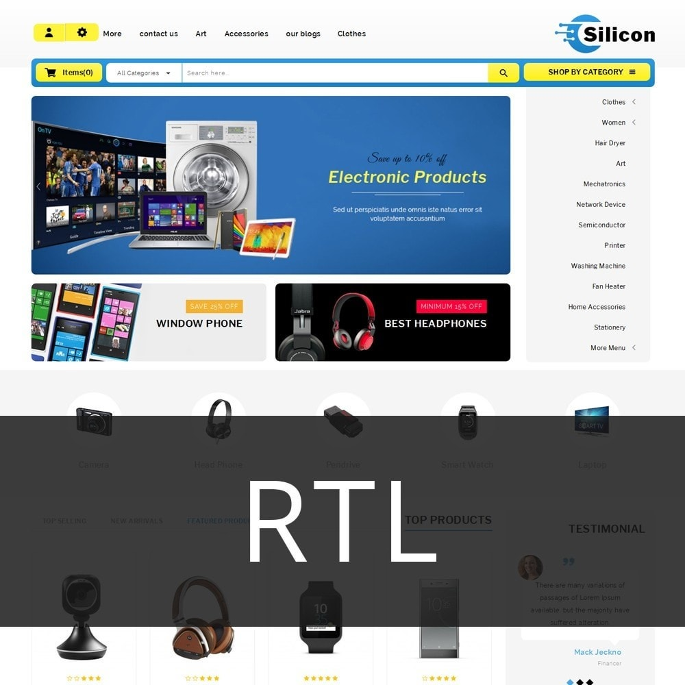theme - Elettronica & High Tech - Silicon - The Electronic Store - 3