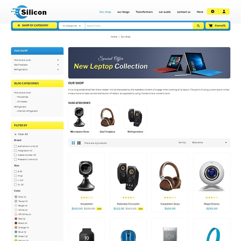 theme - Elettronica & High Tech - Silicon - The Electronic Store - 4
