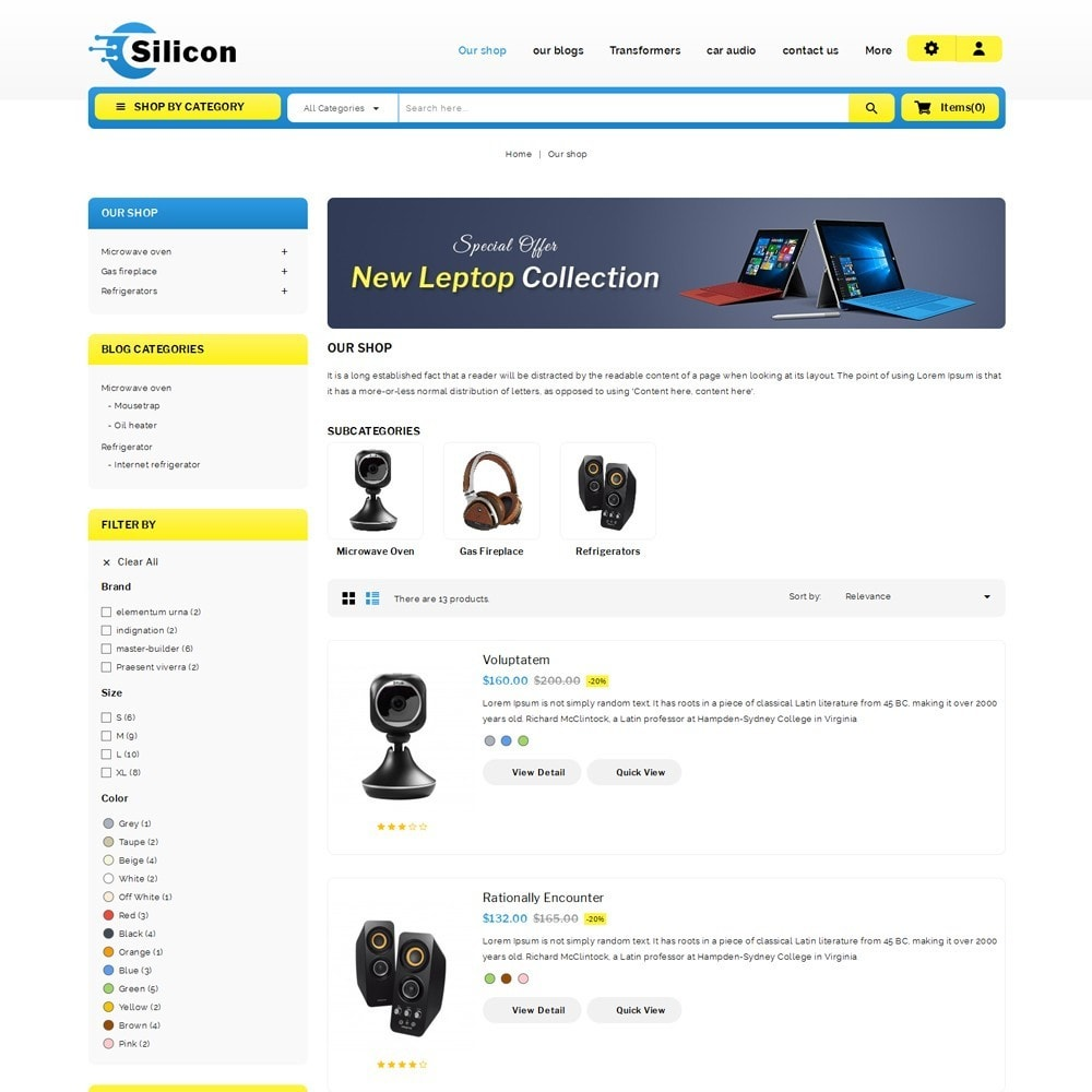 theme - Elettronica & High Tech - Silicon - The Electronic Store - 5