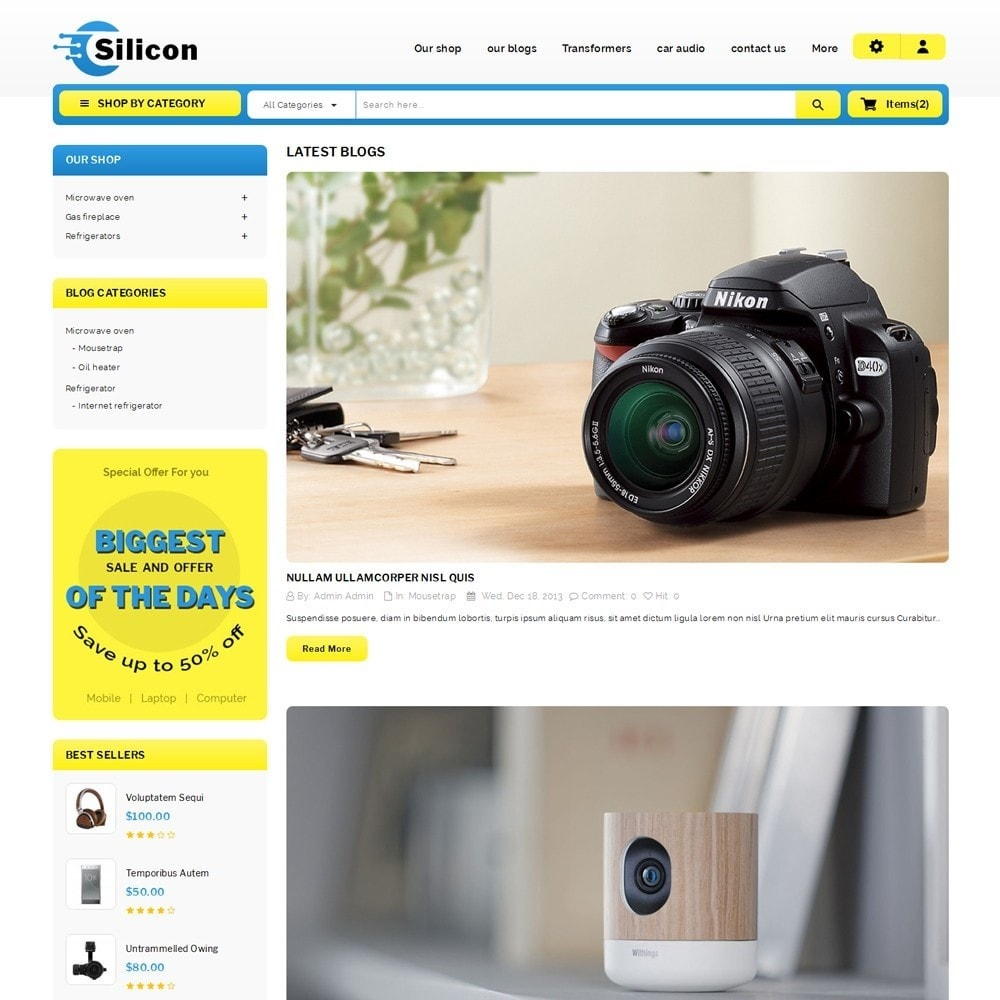 theme - Elettronica & High Tech - Silicon - The Electronic Store - 7