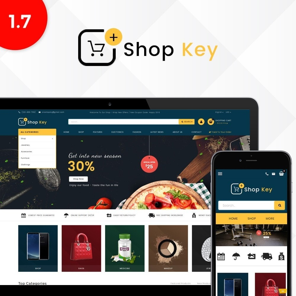 theme - Mode & Schoenen - Shop key Store - 1