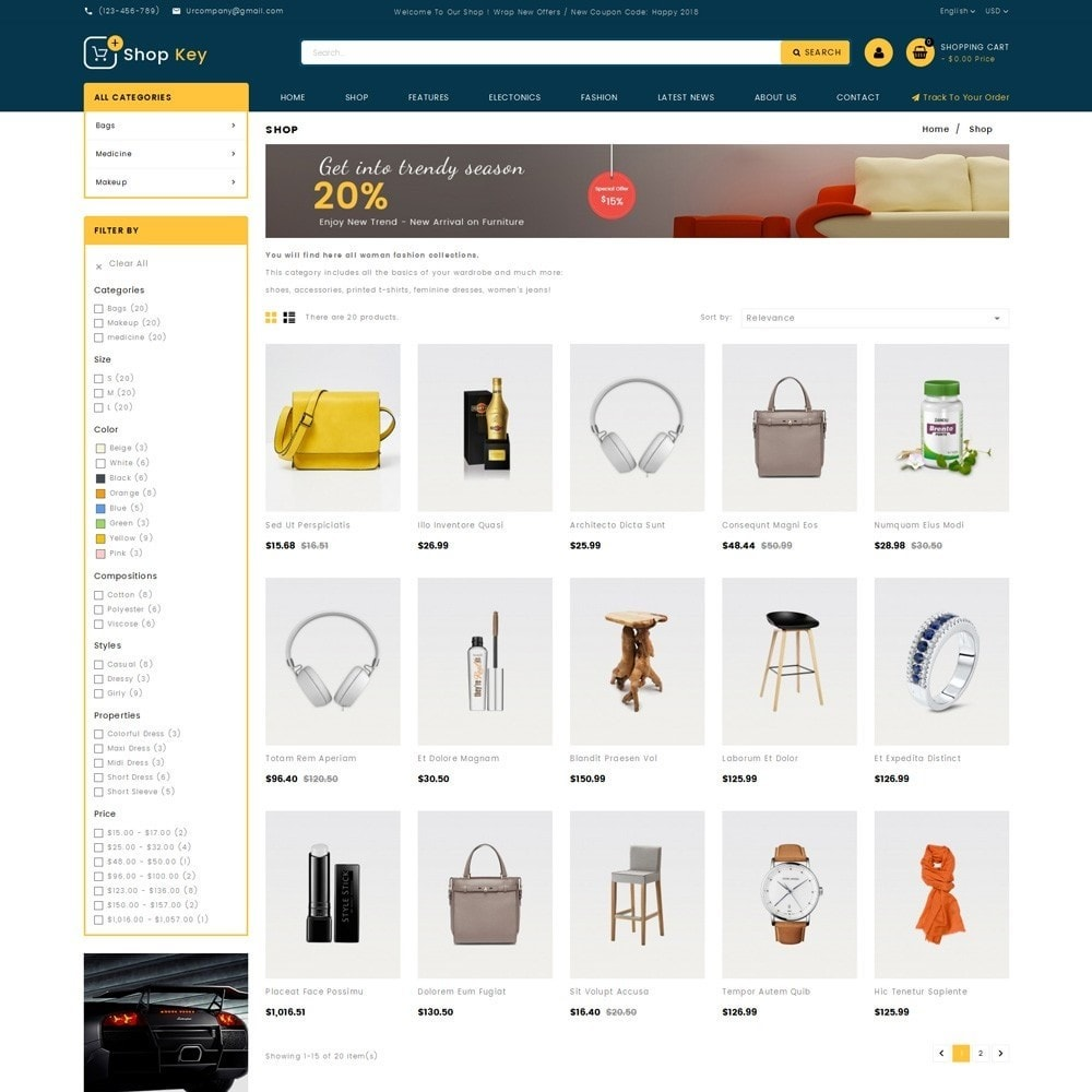 theme - Mode & Schoenen - Shop key Store - 3