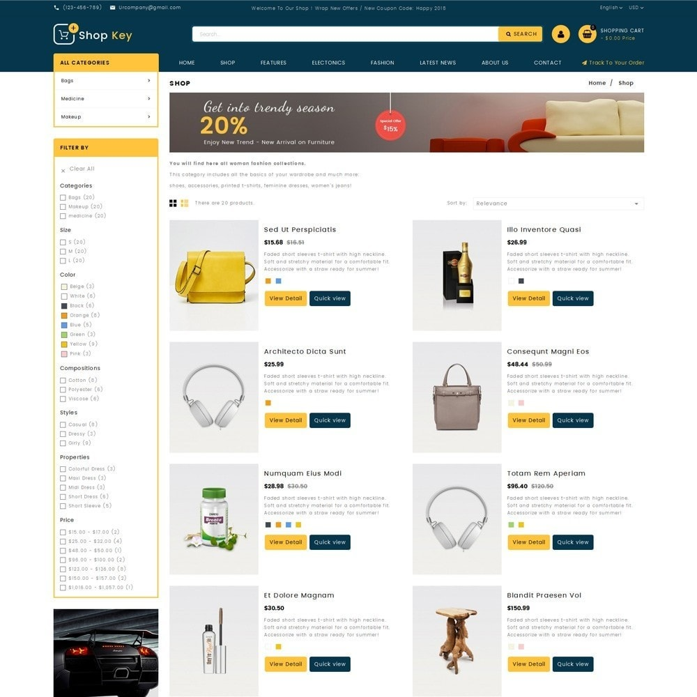 theme - Mode & Schoenen - Shop key Store - 4