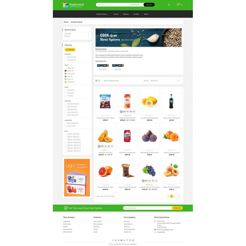theme - Eten & Restaurant - Big Basket Mega Grocery - 3