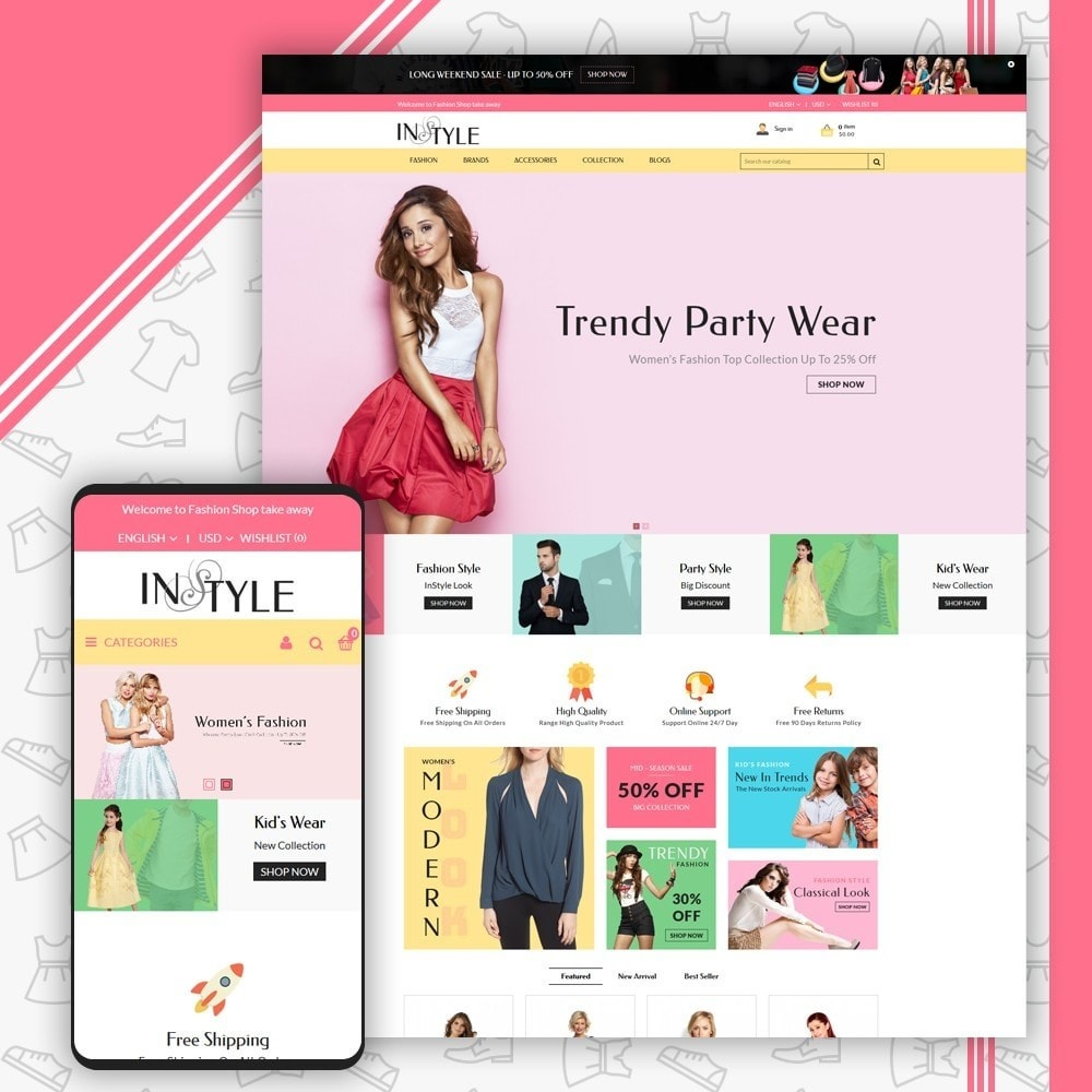 theme - Mode & Schoenen - InStyle Fashion Shop - 1