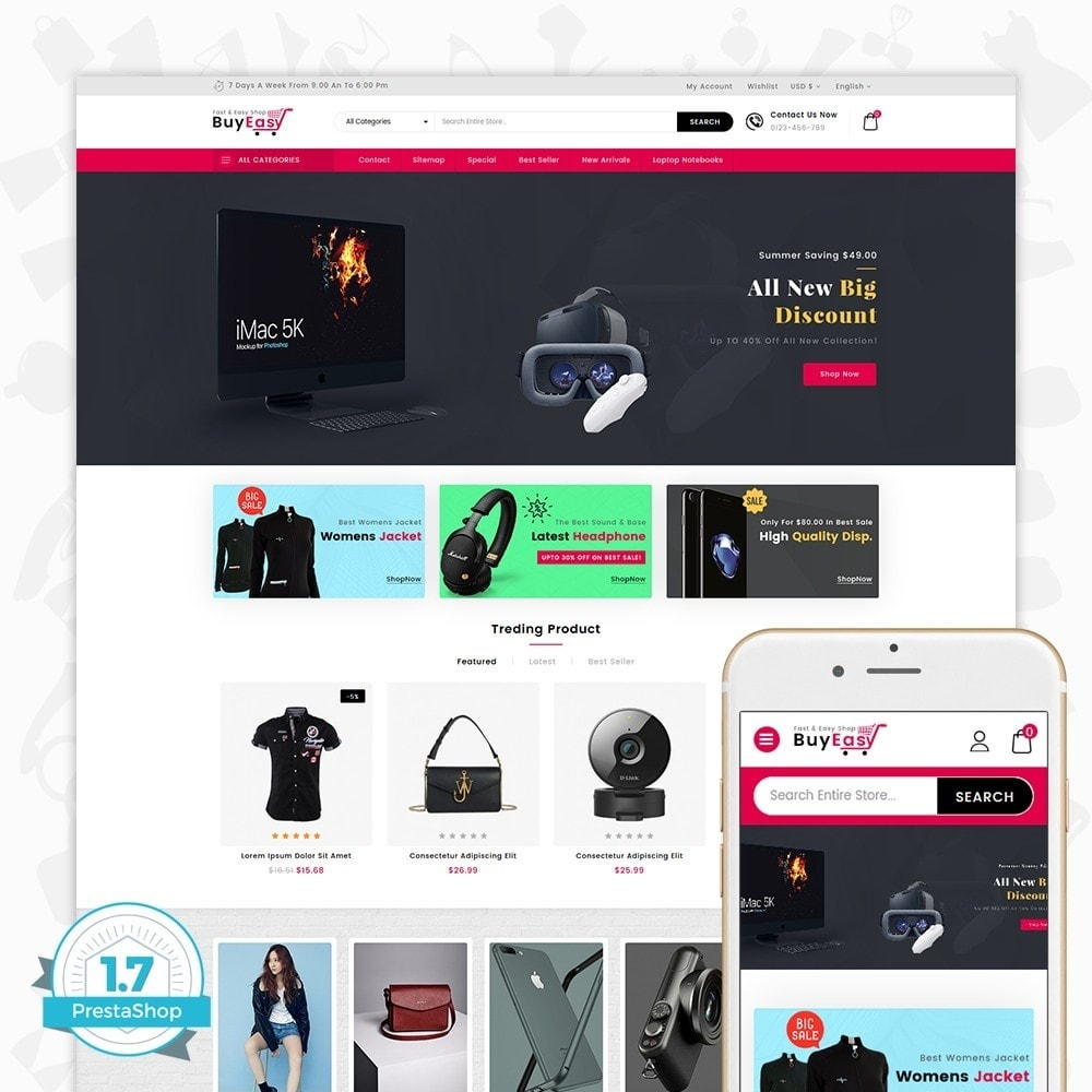 theme - Elettronica & High Tech - Buyeasy - Fast and Easy Shop - 1