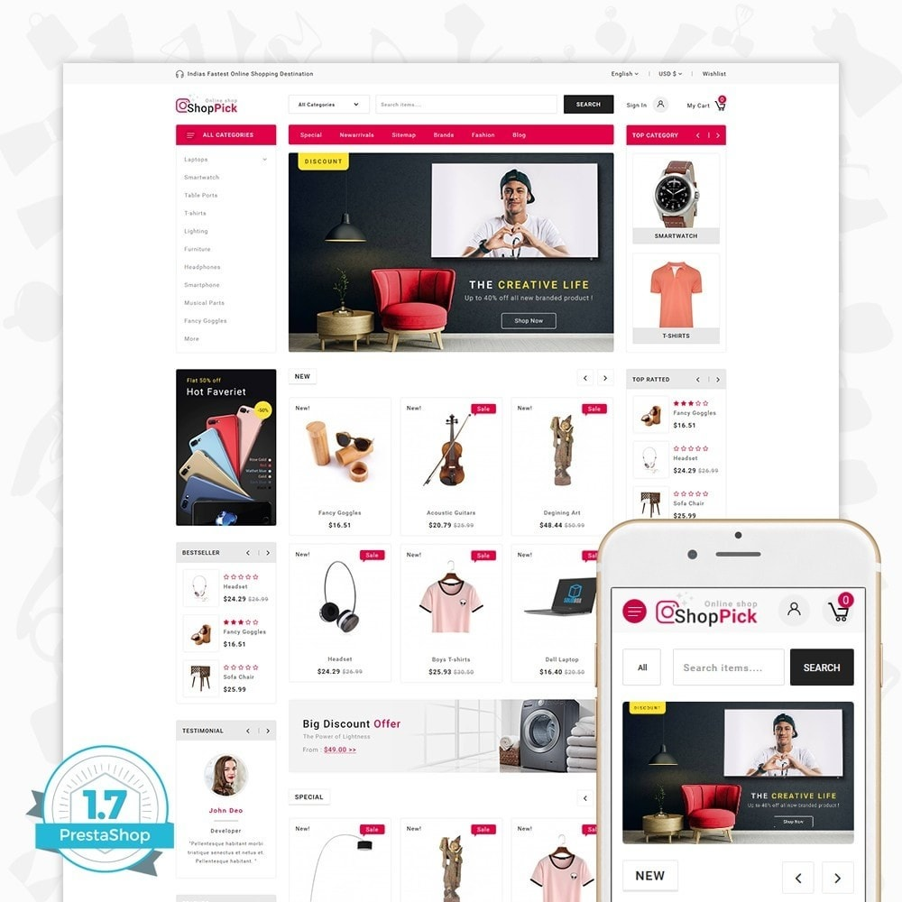 theme - Elektronika & High Tech - Shoppick - The Online Shop - 1