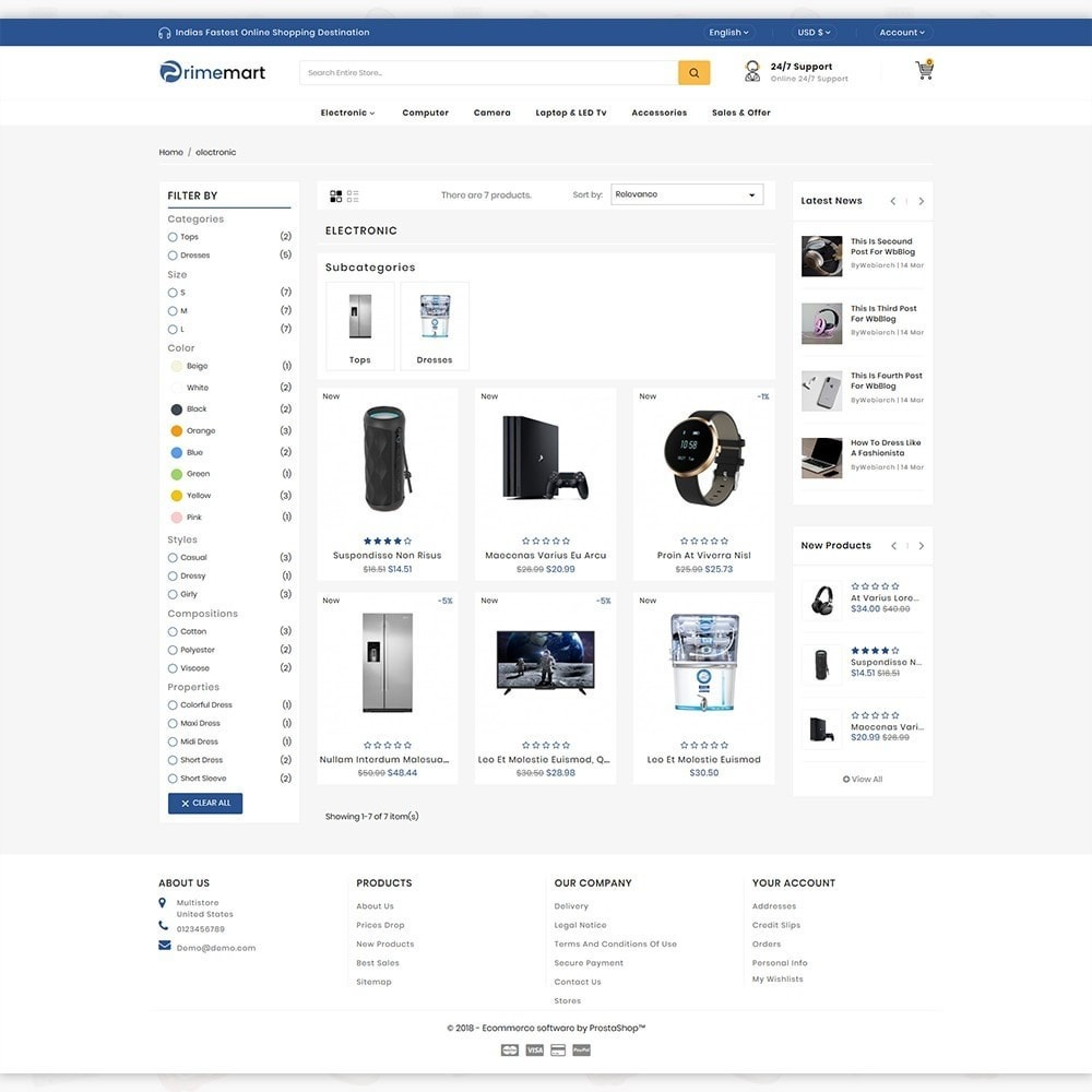 theme - Электроника и компьютеры - PrimeMart - The Mega Ecommerce Store - 3