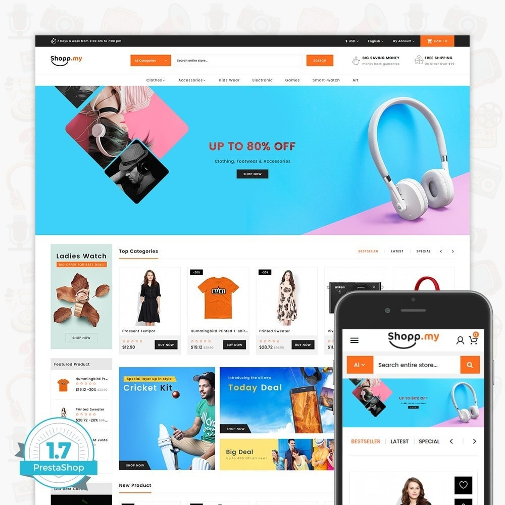 theme - Elektronica & High Tech - Shopmy - The MultiStore - 1