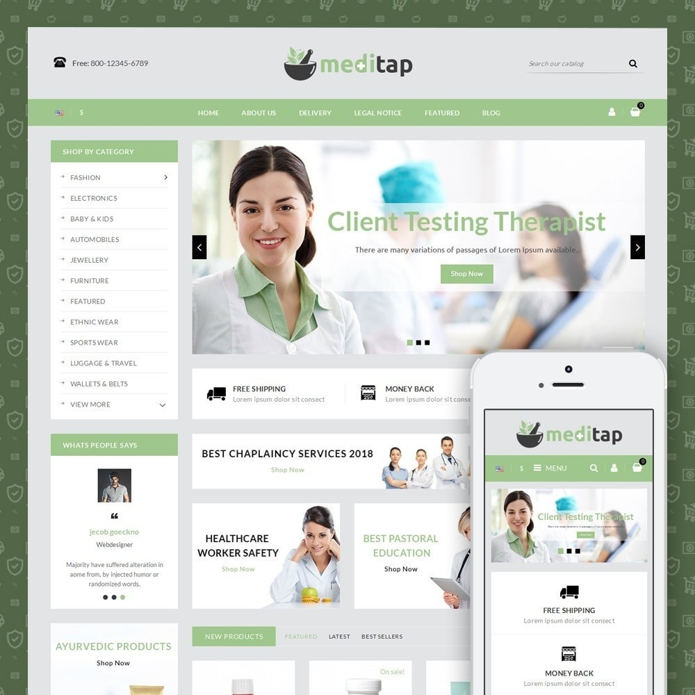theme - Health & Beauty - Meditap - Medicine Store - 1