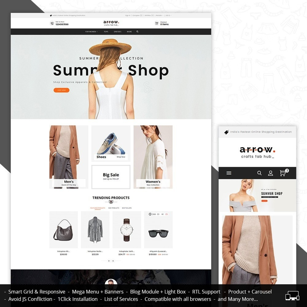 theme - Мода и обувь - Arrow Fashion Apparels - 1