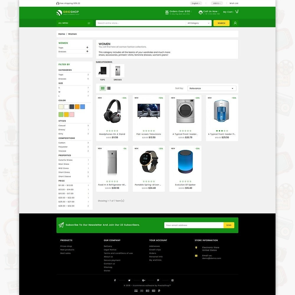 theme - Eletrônicos & High Tech - GridShop - The Large Ecommerce Store - 3