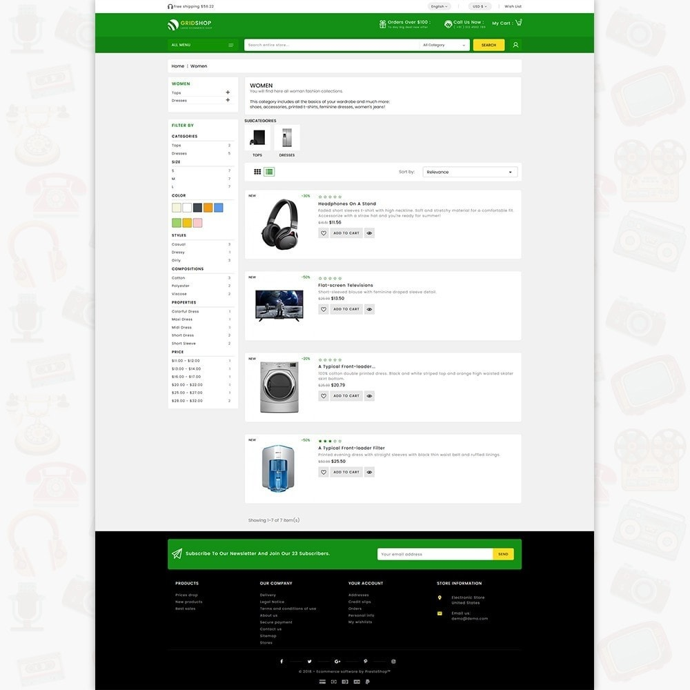 theme - Eletrônicos & High Tech - GridShop - The Large Ecommerce Store - 4