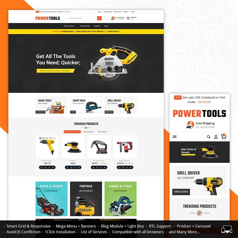theme - Дом и сад - Power Tools Store - 1