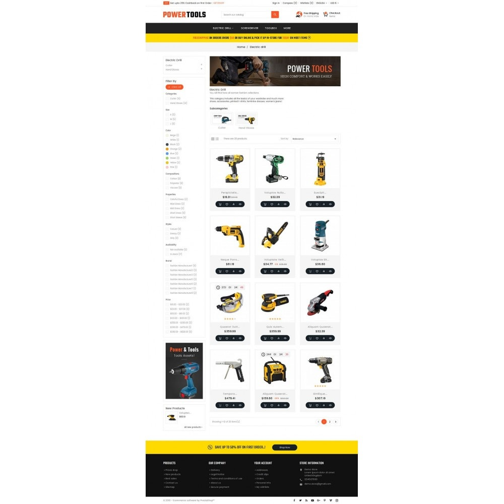 theme - Дом и сад - Power Tools Store - 3