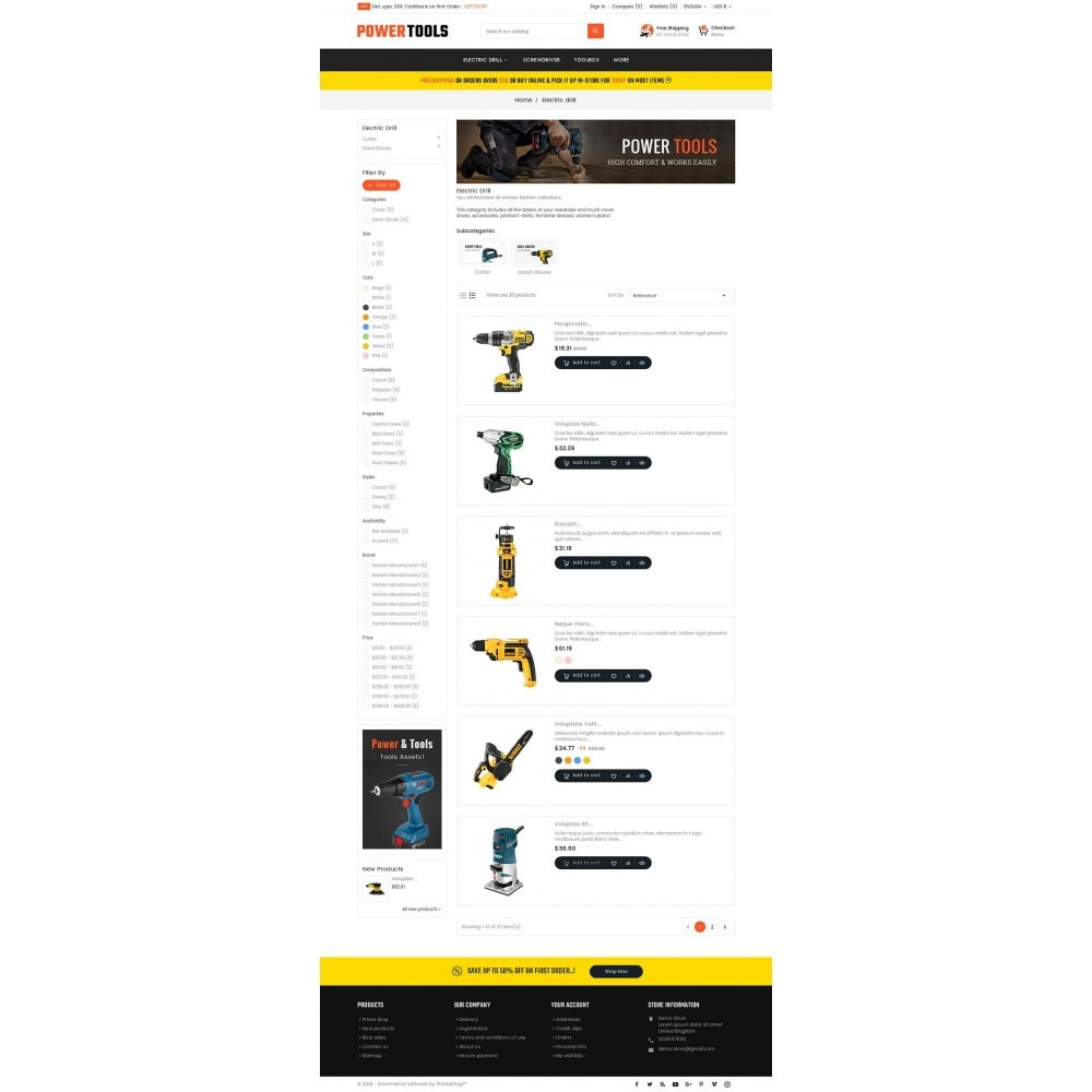 theme - Дом и сад - Power Tools Store - 4