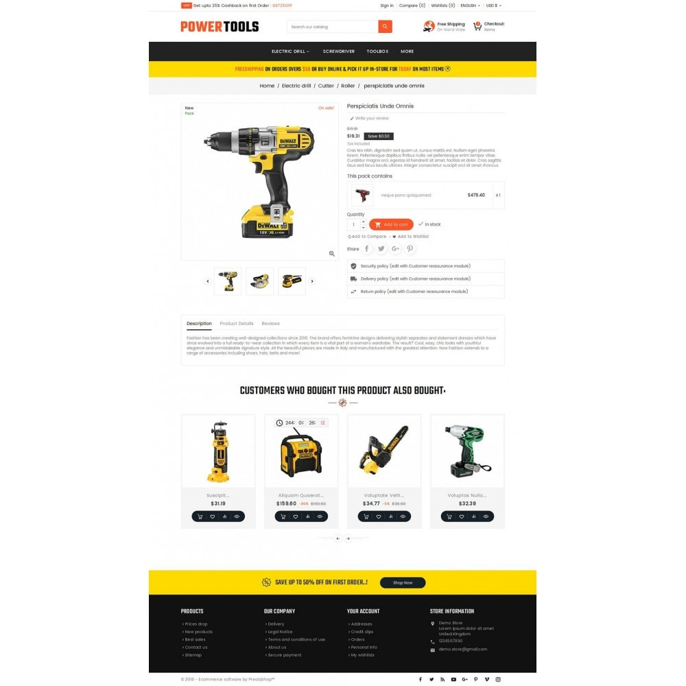 theme - Дом и сад - Power Tools Store - 5