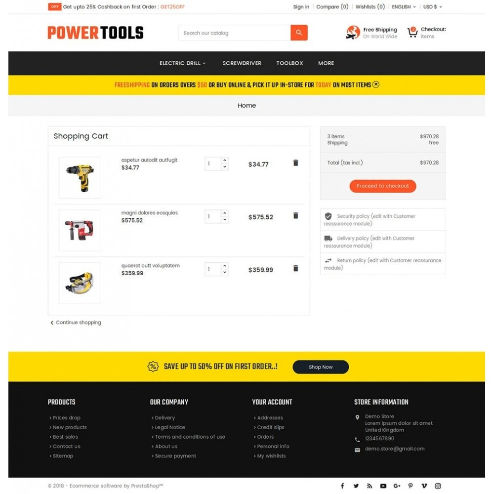 theme - Дом и сад - Power Tools Store - 6