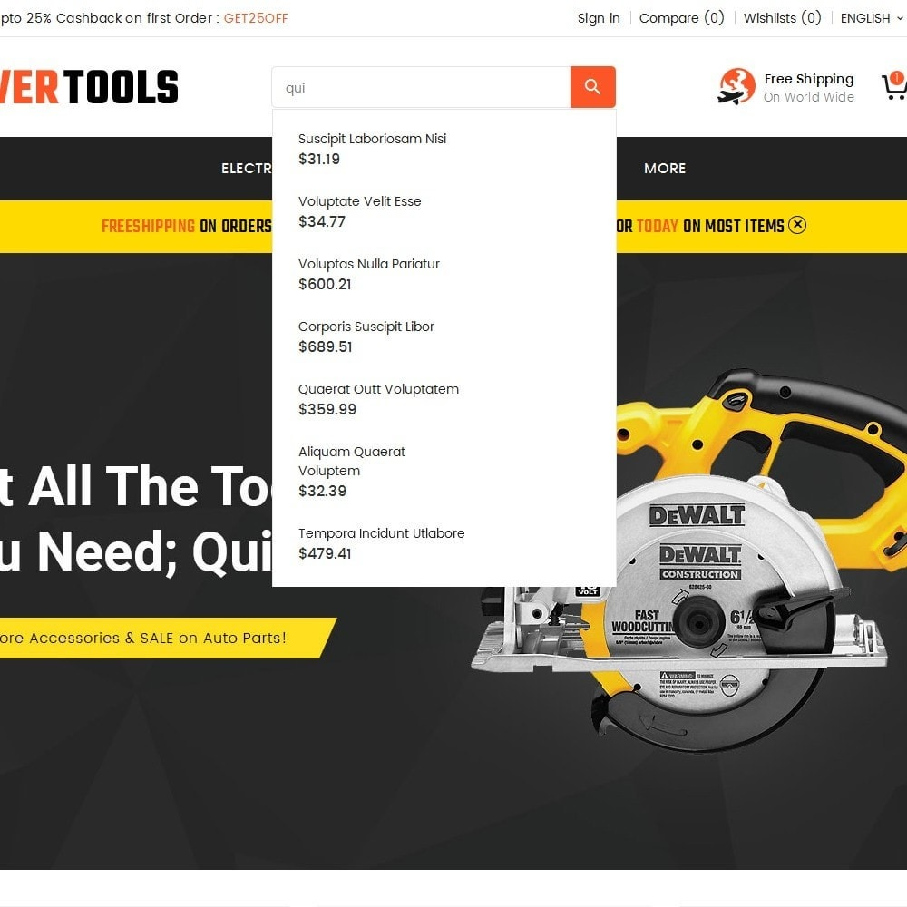 theme - Дом и сад - Power Tools Store - 10