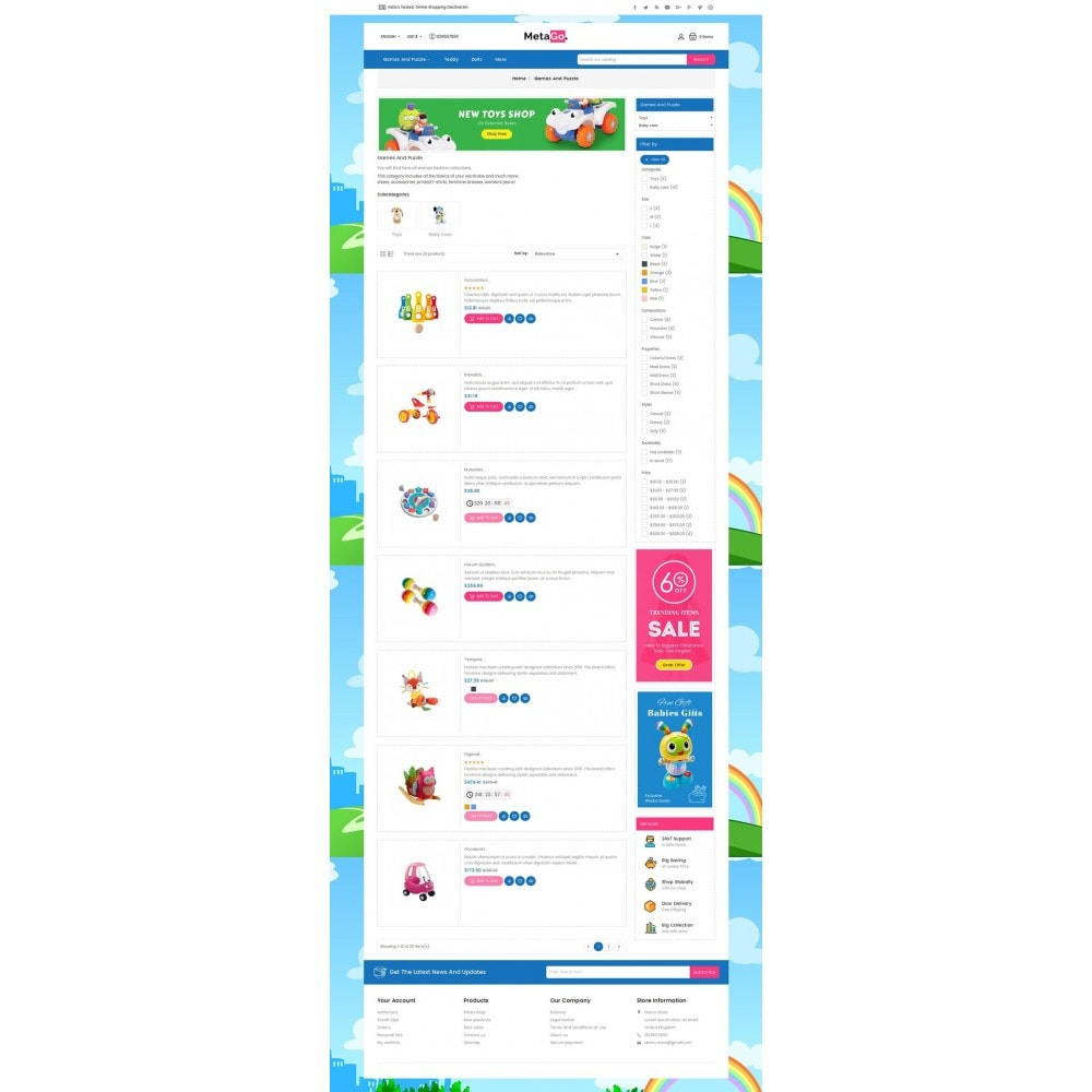 theme - Crianças & Brinquedos - Melano Kids Toys - 4