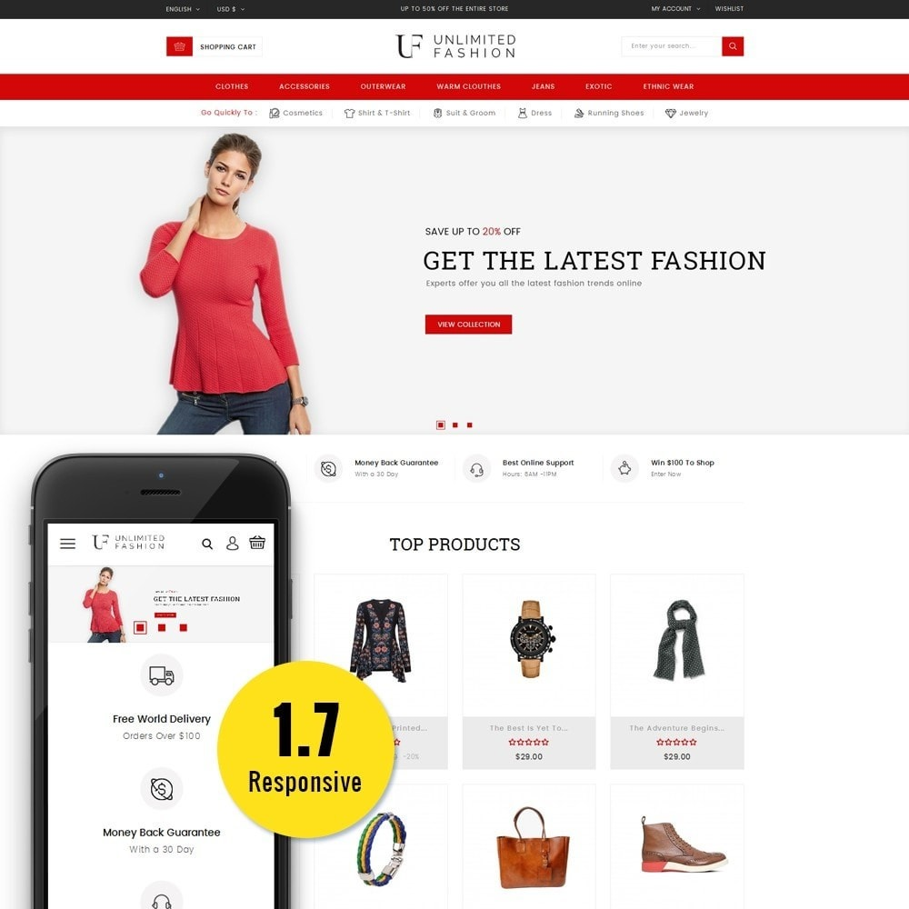 theme - Moda & Obuwie - Unlimited Fashion Store - 1