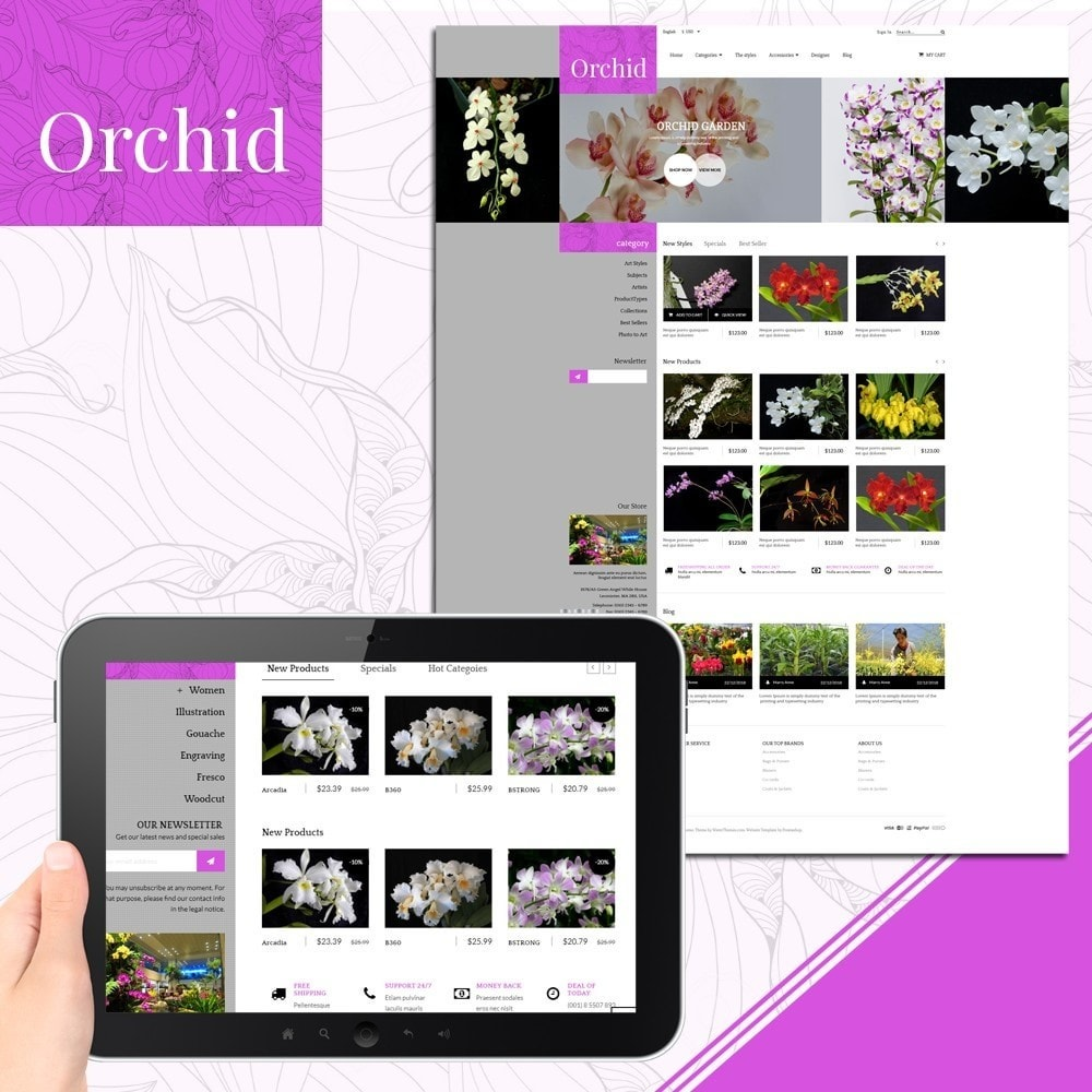 theme - Gifts, Flowers & Celebrations - Orchid Flower Store - 1