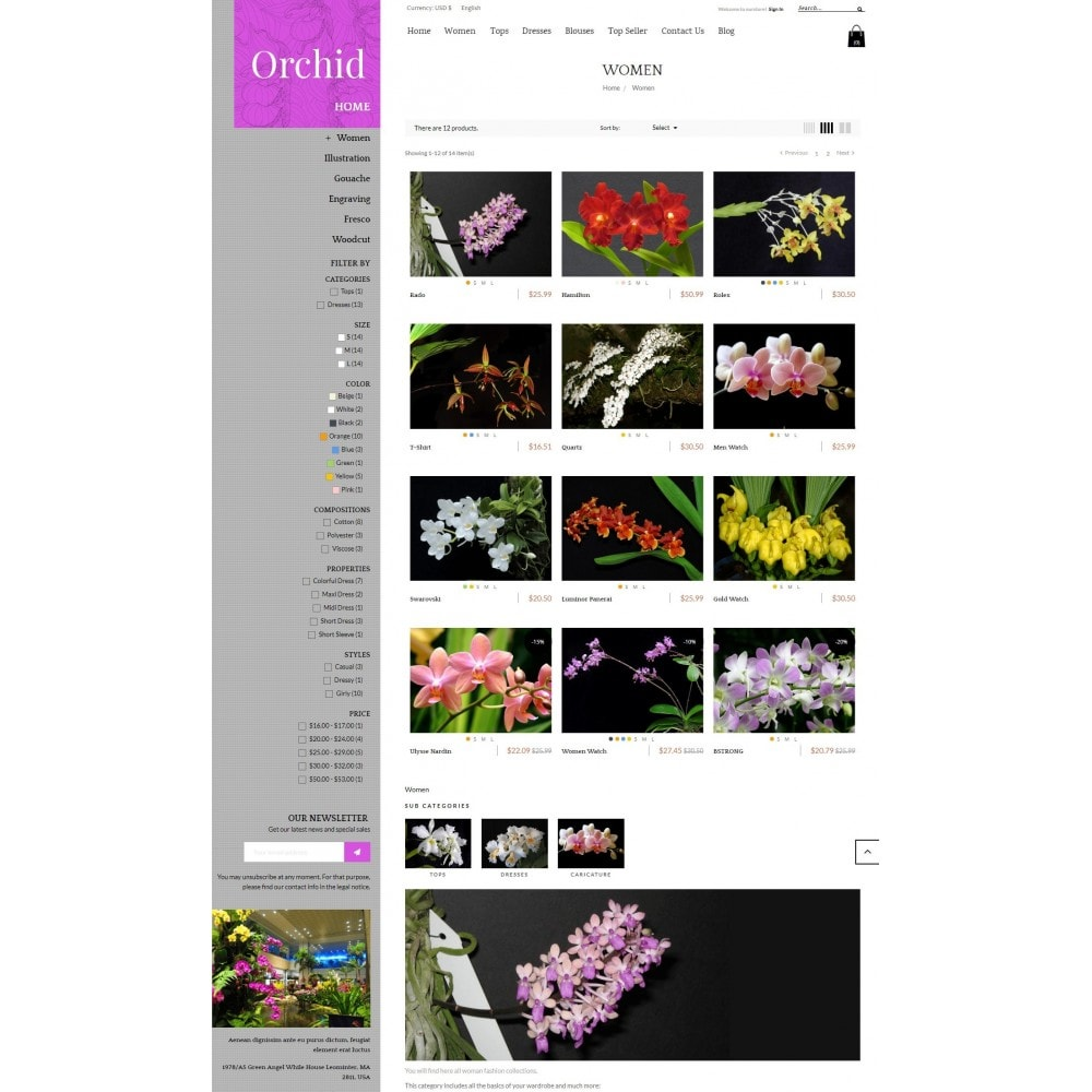 theme - Gifts, Flowers & Celebrations - Orchid Flower Store - 3