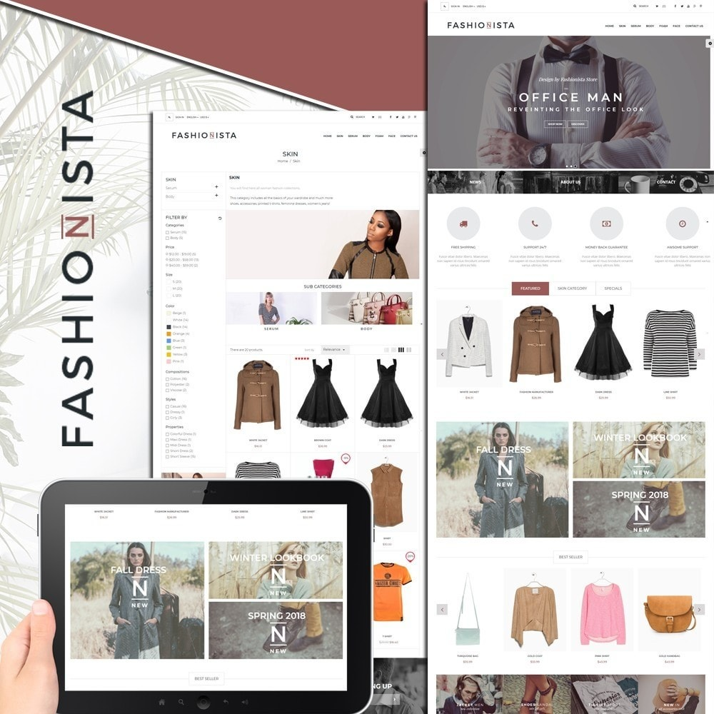 theme - Moda & Calzature - The Fashionista - 1