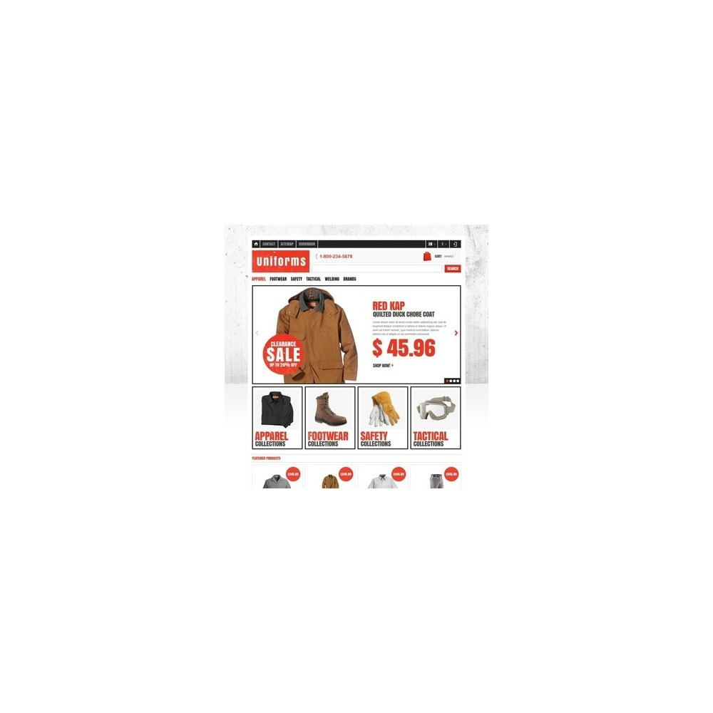theme - Moda y Calzado - Responsive Uniforms Store - 2