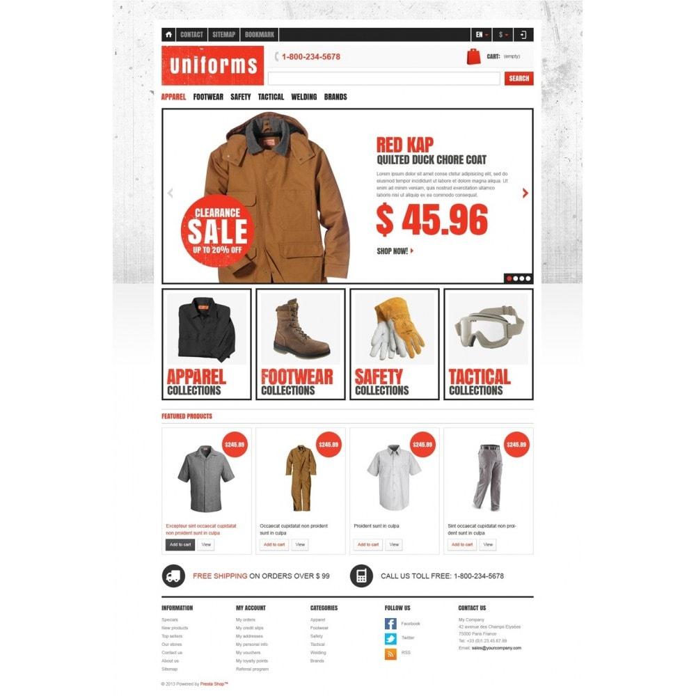 theme - Moda y Calzado - Responsive Uniforms Store - 5