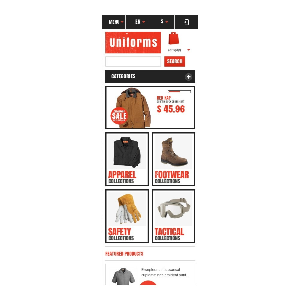 theme - Moda y Calzado - Responsive Uniforms Store - 10