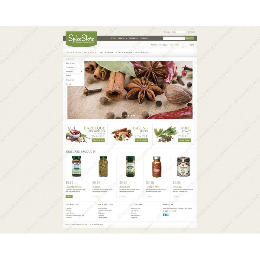 theme - Lebensmittel & Restaurants - Spice Store - 7