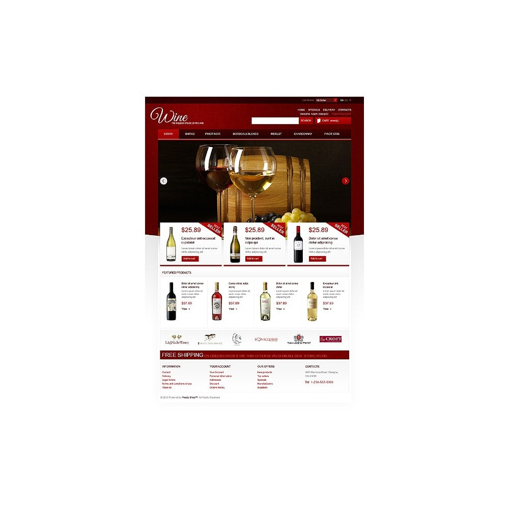 theme - Продовольствие и рестораны - Wine Store - 1