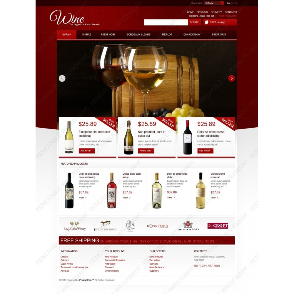 theme - Food & Restaurant - Wine Store - 2
