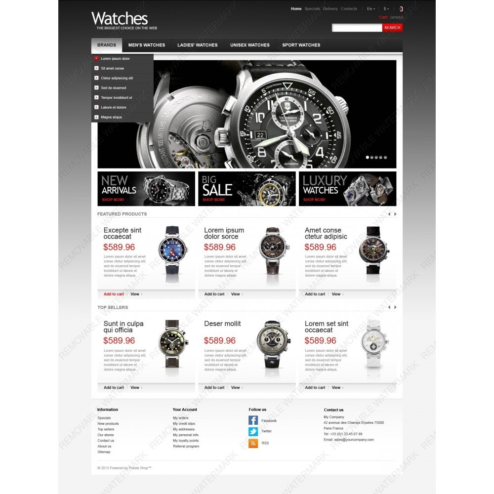 theme - Mode & Chaussures - Wrist Watch Store - 3