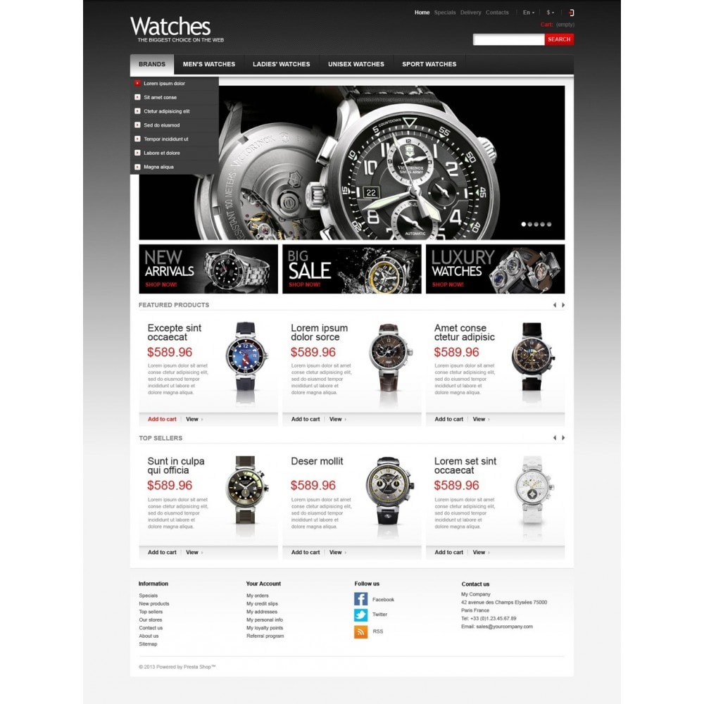 theme - Mode & Chaussures - Wrist Watch Store - 5