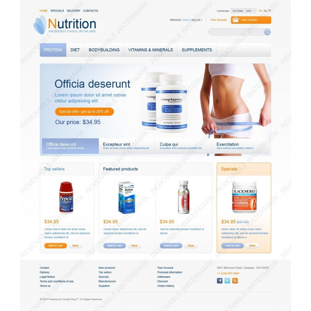 theme - Health & Beauty - Nutrition Store - 2