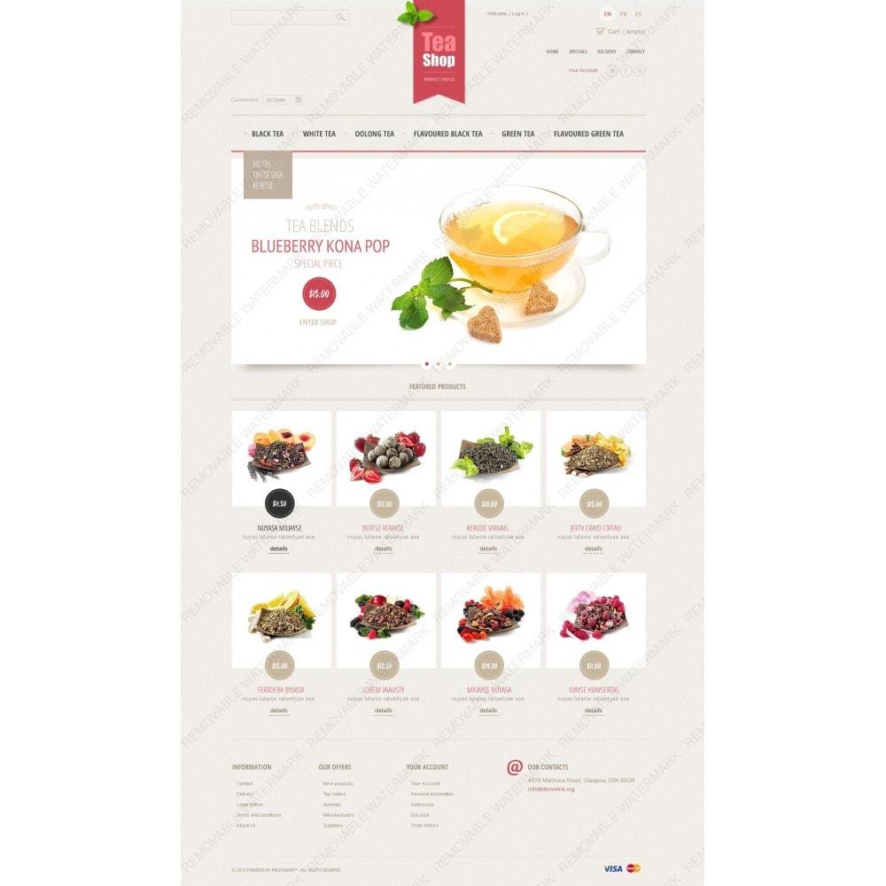 theme - Продовольствие и рестораны - Tea Shop - 2