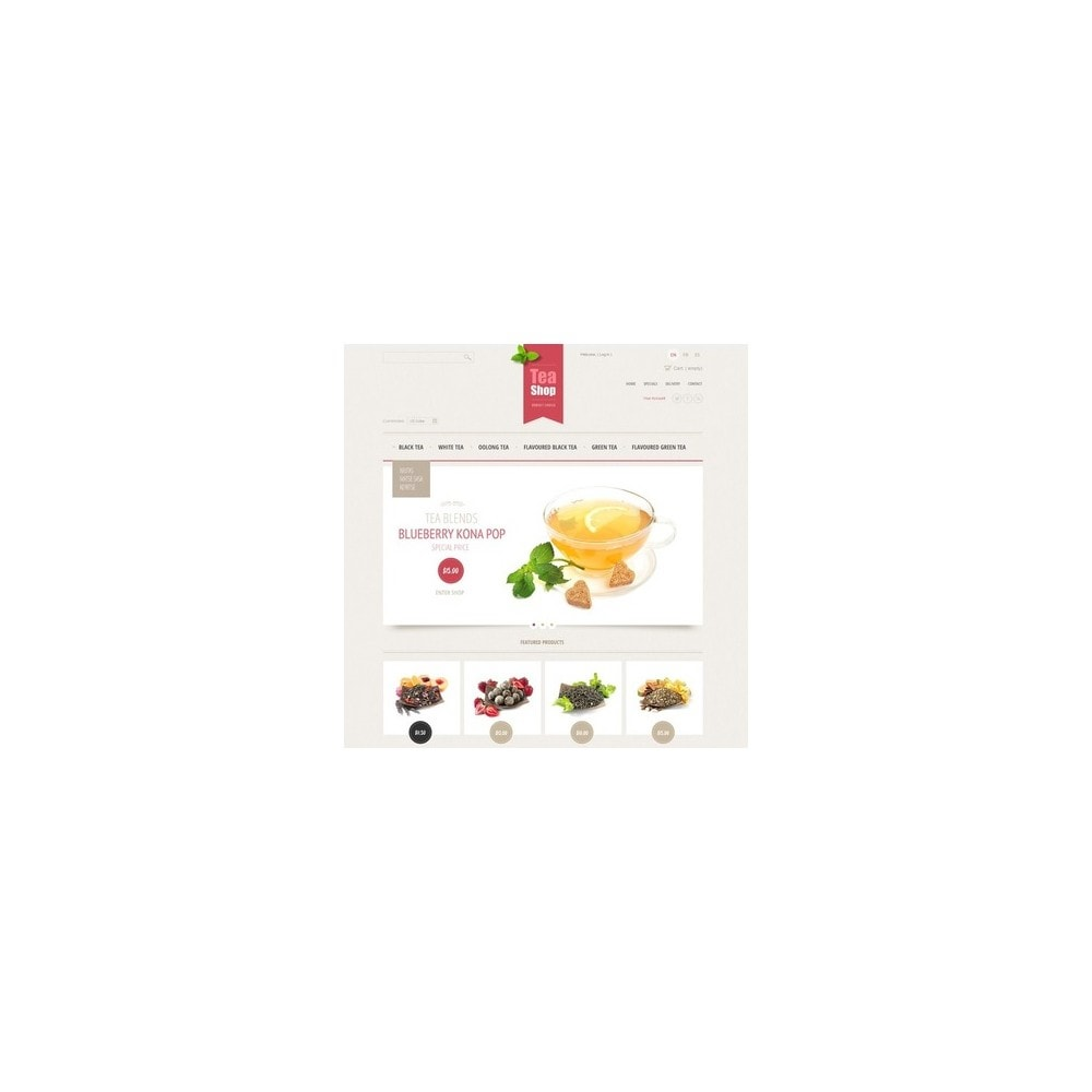 theme - Żywność & Restauracje - Tea Shop - 4